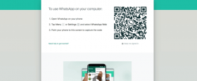 WhatsApp Web on computer