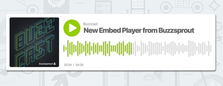 buzzsprout embed player