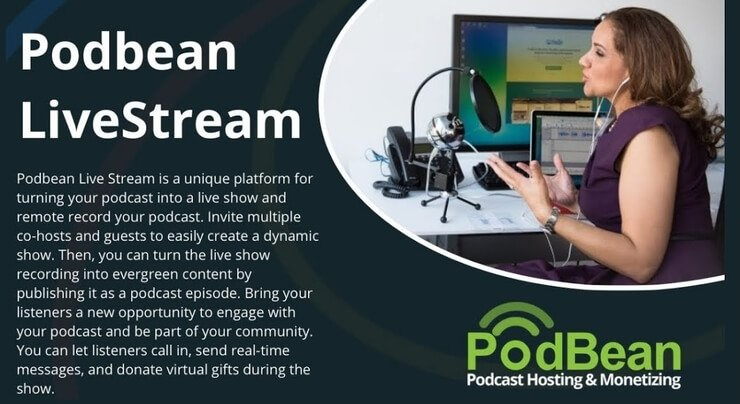 podbean podcast livestream