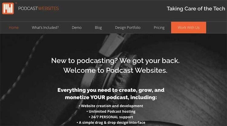 podcast websites hosting
