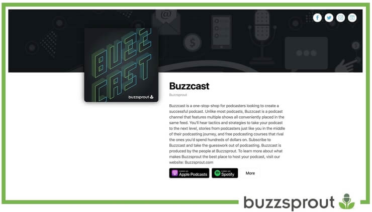 buzzsprout podcast websites