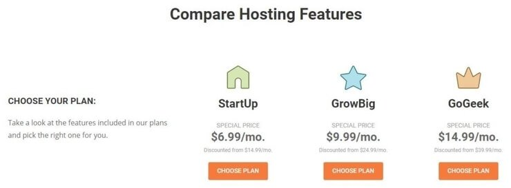 siteground pricing plans