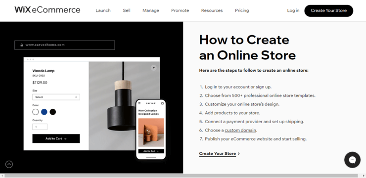create an online store on wix