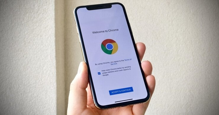 chrome default browser phone